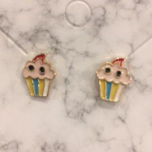 2 for $11: Girls cupcake earrings